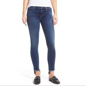 Hudson Colette Step Hem Mid Rise Skinny Jeans